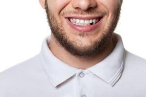 Tooth missing adult men gap smile white